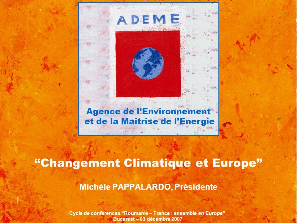Changement Climatique et Europe Michèle PAPPALARDO, Présidente