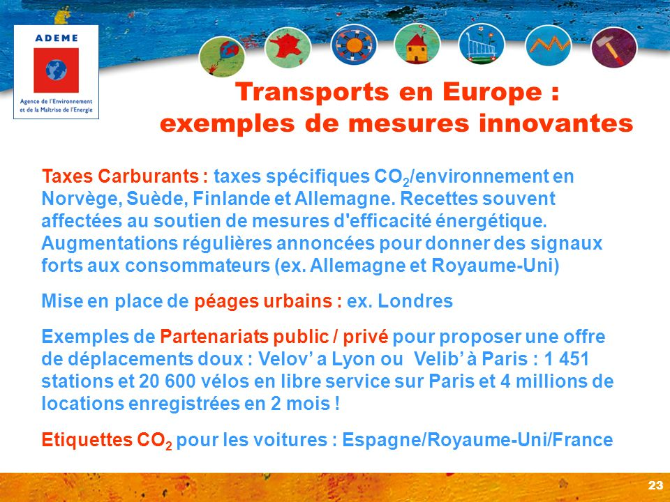 Transports en Europe : exemples de mesures innovantes