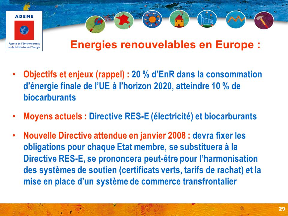 Energies renouvelables en Europe :