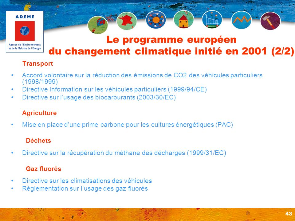 Le programme européen du changement climatique initié en 2001 (2/2)