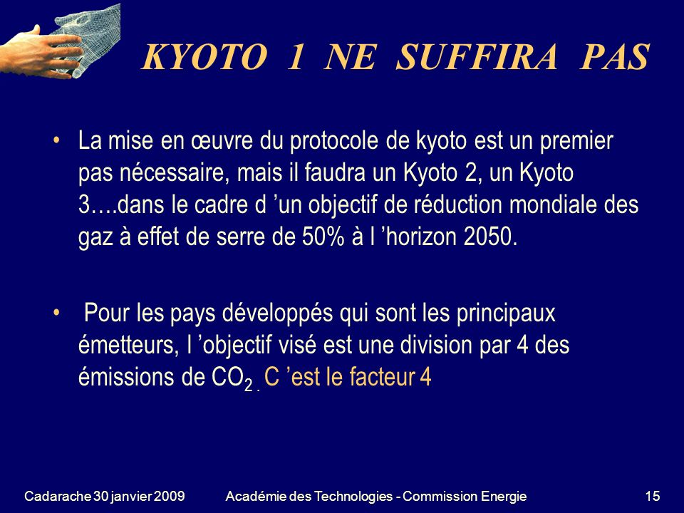 Académie des Technologies - Commission Energie