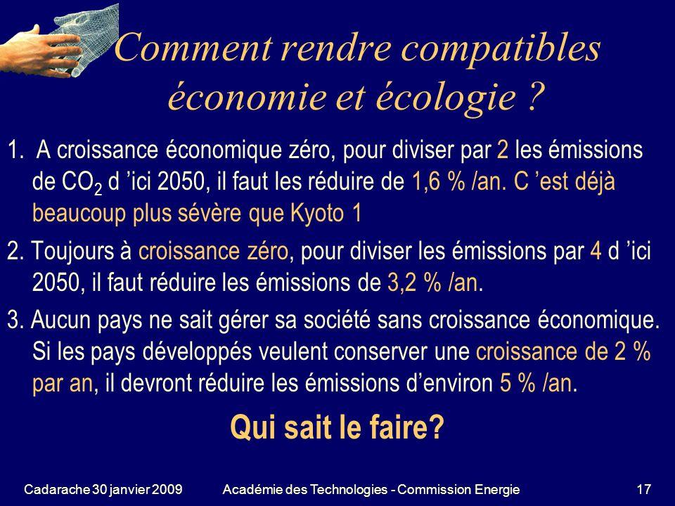 Comment rendre compatibles économie et écologie