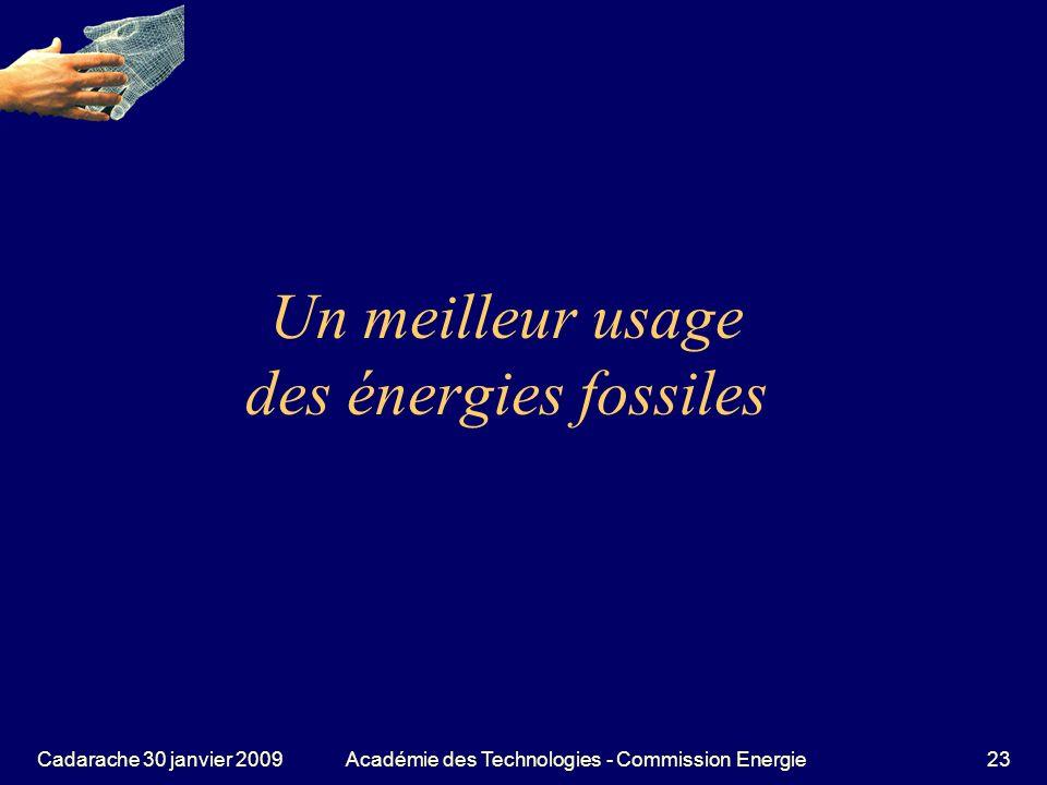 Un meilleur usage des énergies fossiles