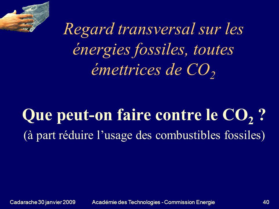 Regard transversal sur les énergies fossiles, toutes émettrices de CO2
