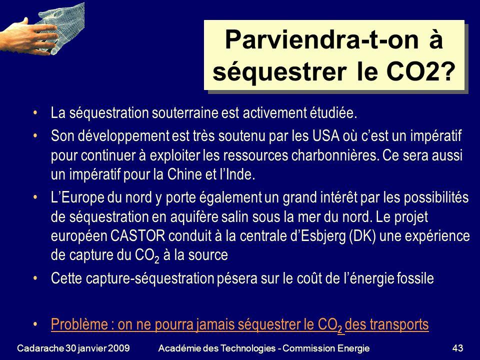 Parviendra-t-on à séquestrer le CO2