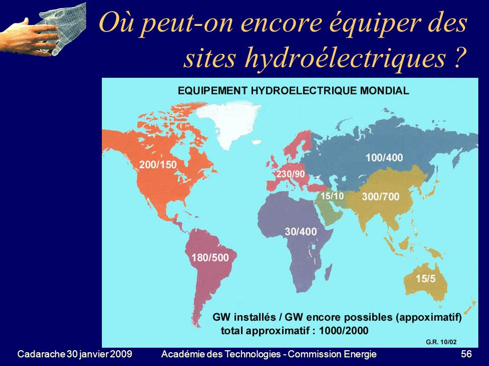 Où peut-on encore équiper des sites hydroélectriques