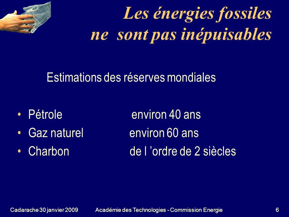 Les énergies fossiles ne sont pas inépuisables