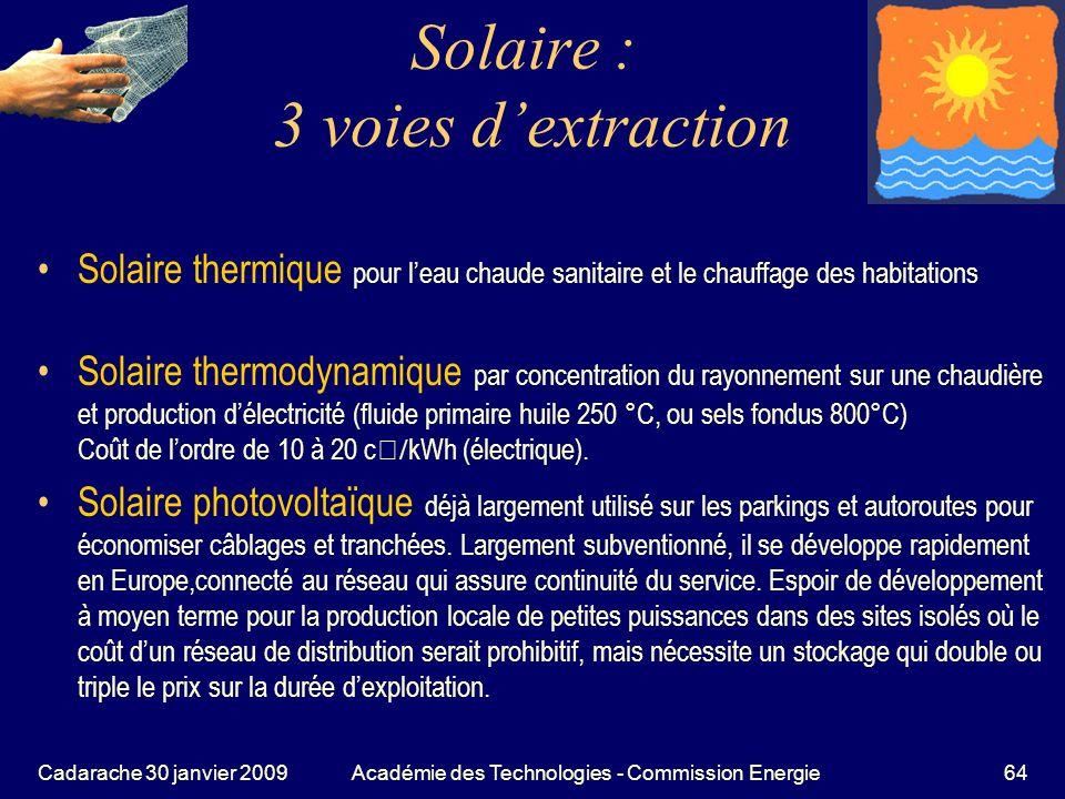 Solaire : 3 voies d'extraction
