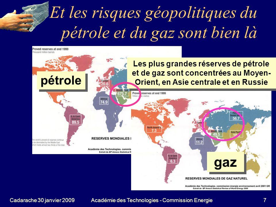 Et les risques géopolitiques du pétrole et du gaz sont bien là