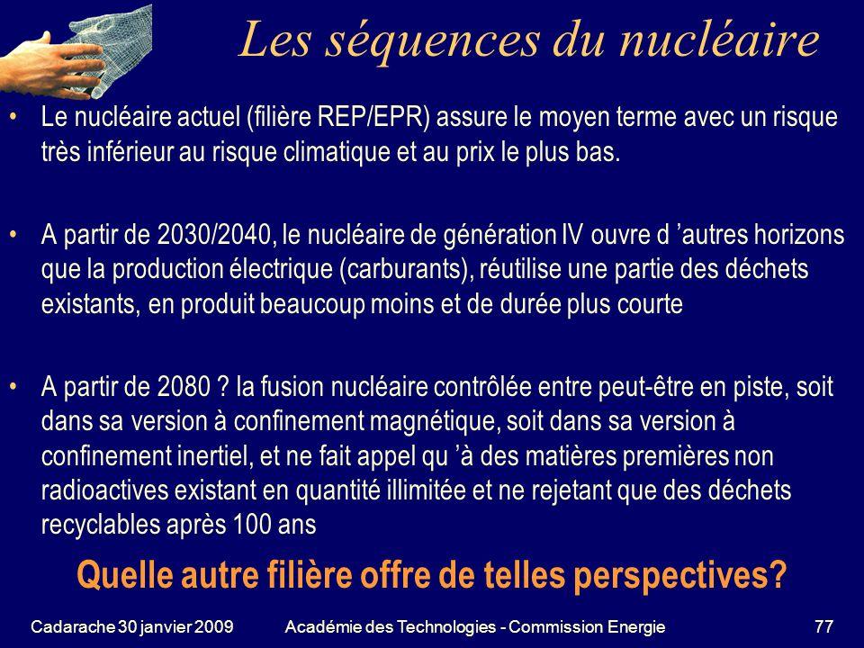 Les séquences du nucléaire