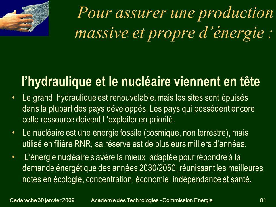 Pour assurer une production massive et propre d'énergie :