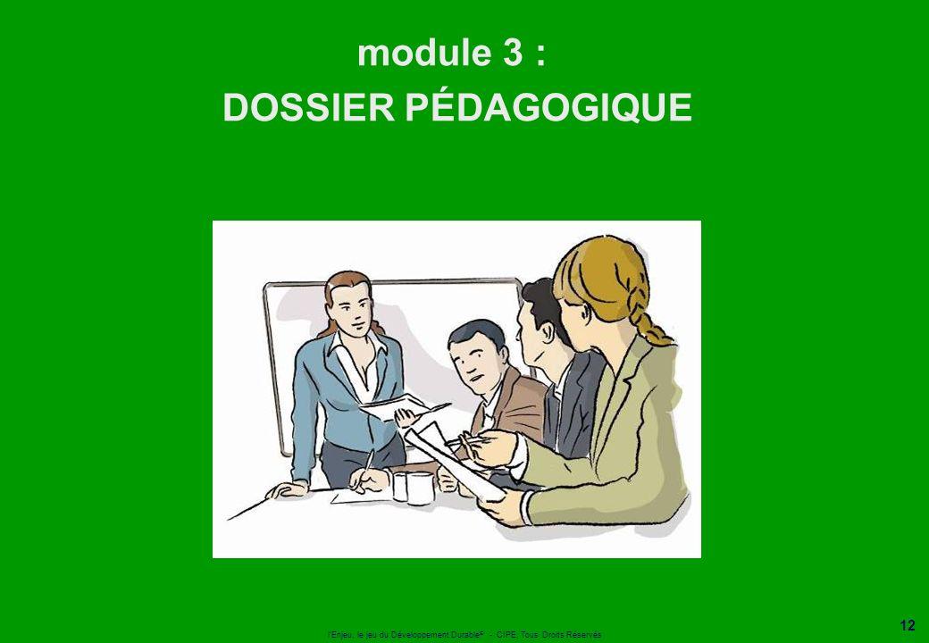 module 3 : DOSSIER PÉDAGOGIQUE