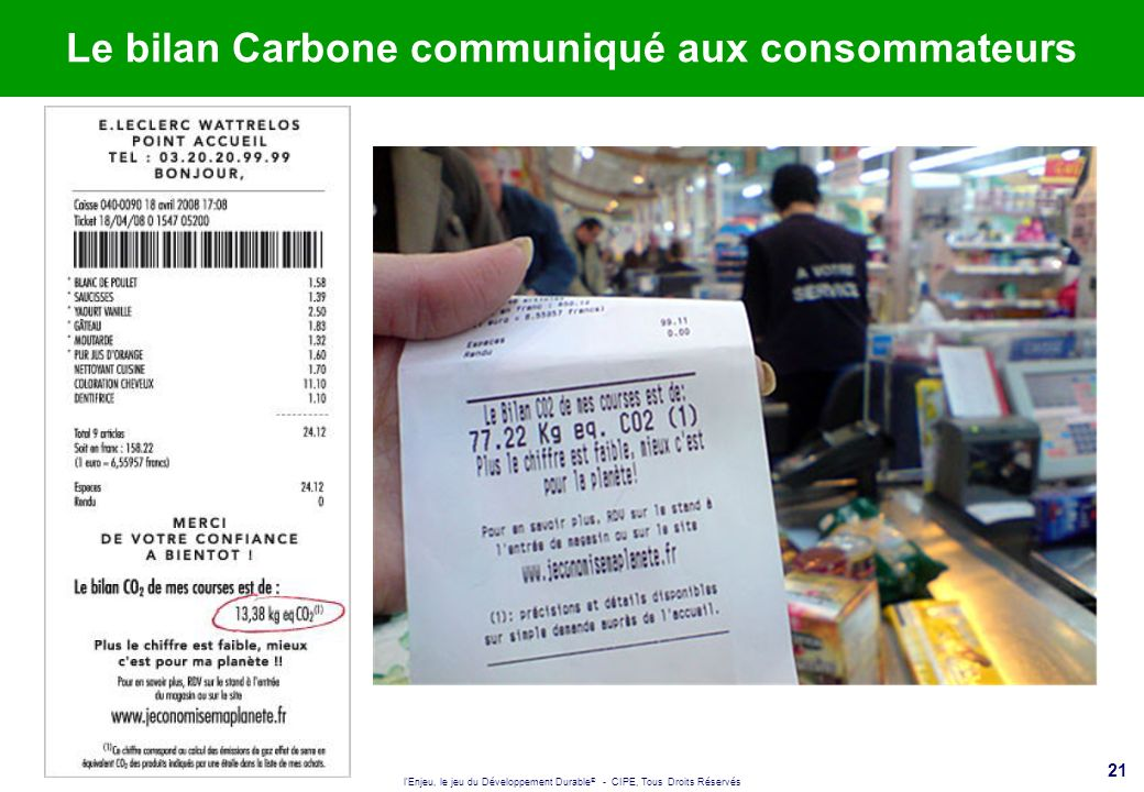 Le bilan Carbone communiqué aux consommateurs