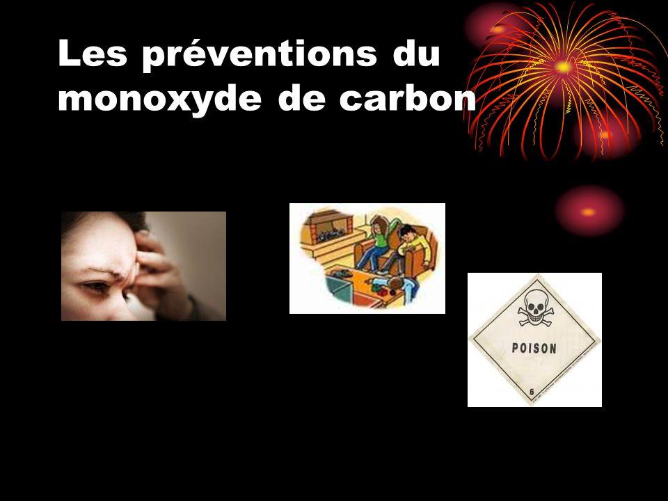 Les préventions du monoxyde de carbon