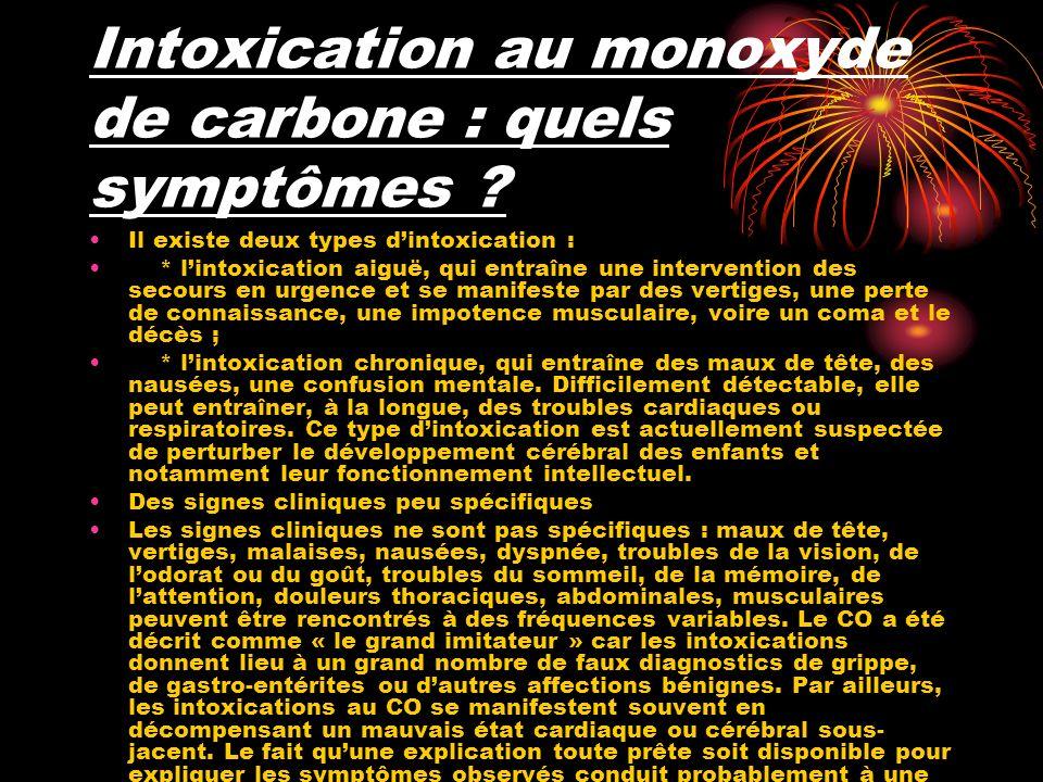 Intoxication au monoxyde de carbone : quels symptômes