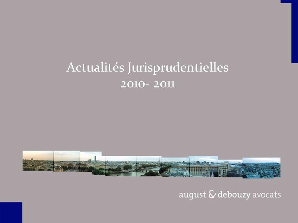 Actualités Jurisprudentielles 2010- 2011