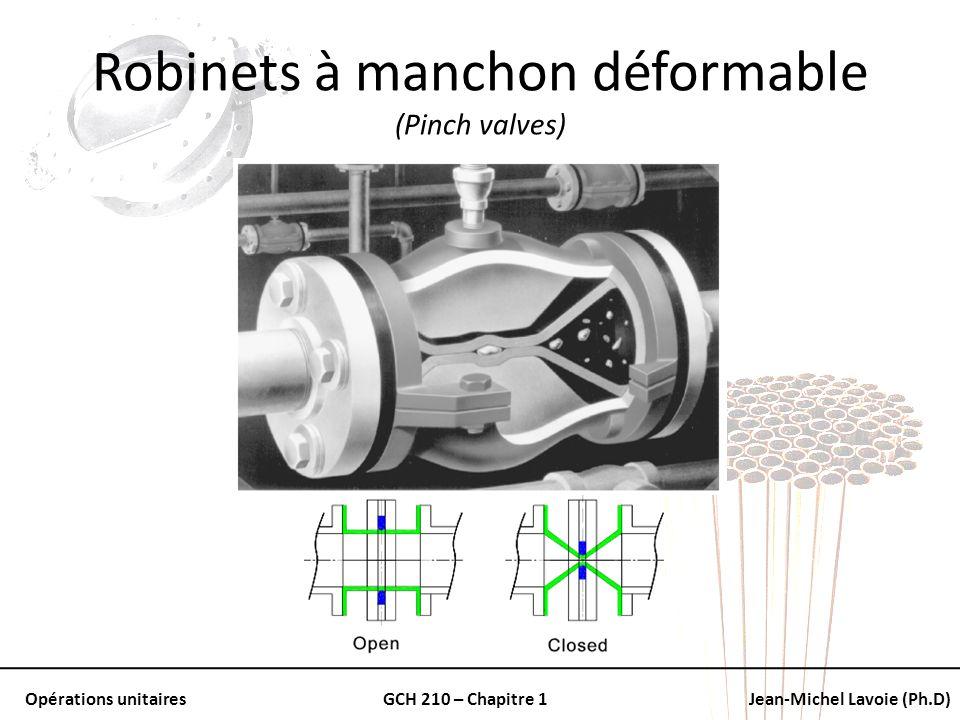 Robinets à manchon déformable (Pinch valves)