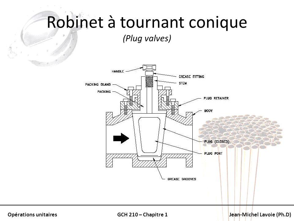 Robinet à tournant conique (Plug valves)