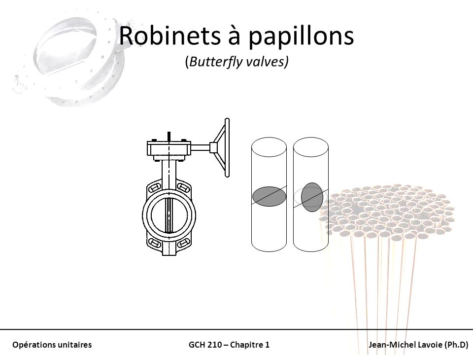 Robinets à papillons (Butterfly valves)