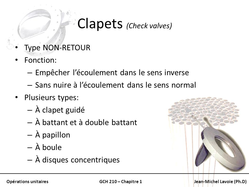 Clapets (Check valves)