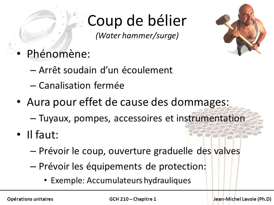 Coup de bélier (Water hammer/surge)
