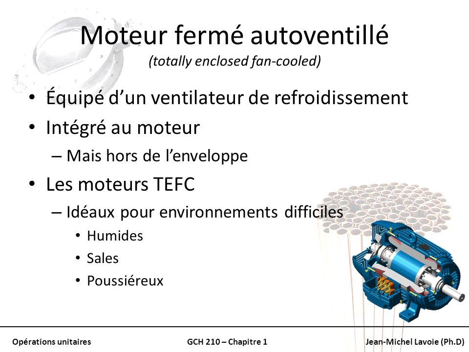 Moteur fermé autoventillé (totally enclosed fan-cooled)