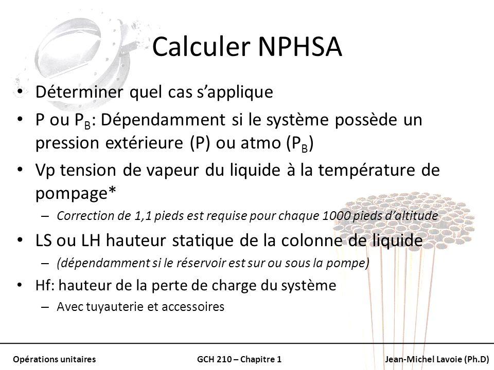 Calculer NPHSA Déterminer quel cas s'applique