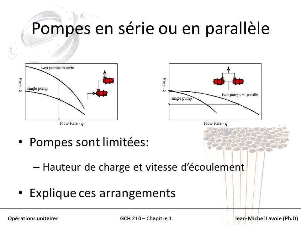 Pompes en série ou en parallèle