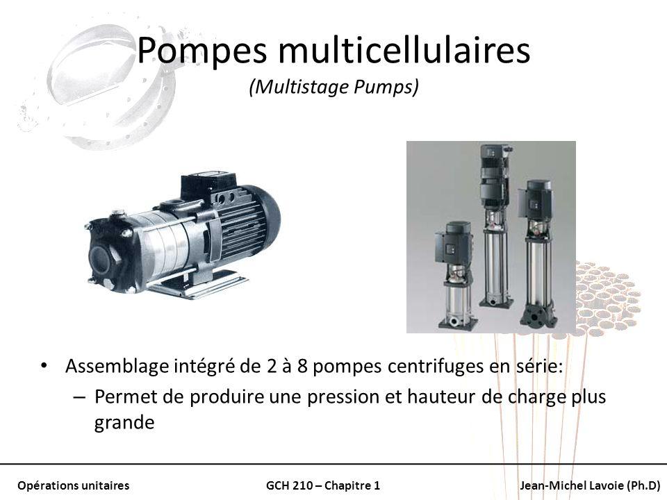 Pompes multicellulaires (Multistage Pumps)