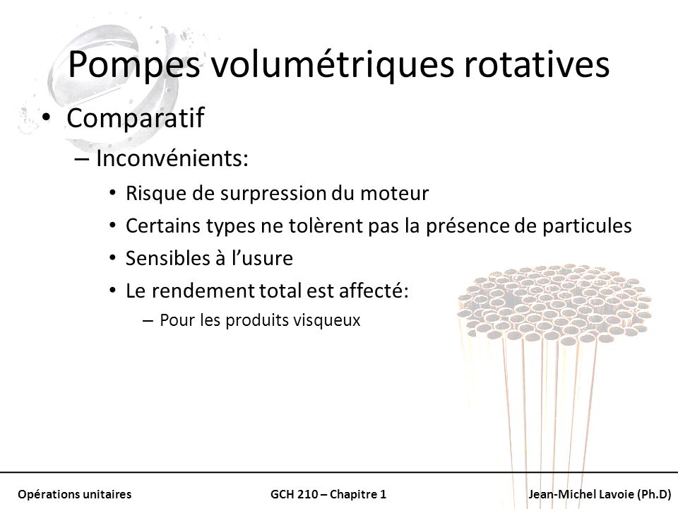 Pompes volumétriques rotatives