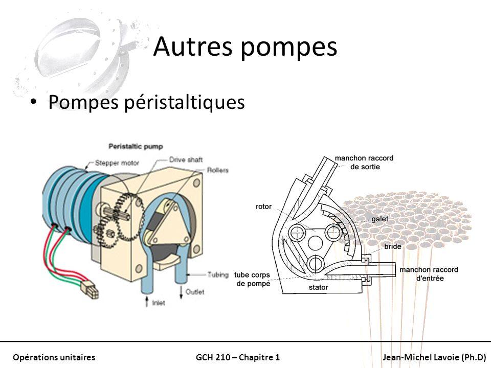 Autres pompes Pompes péristaltiques