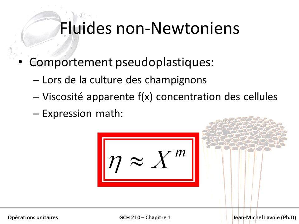Fluides non-Newtoniens
