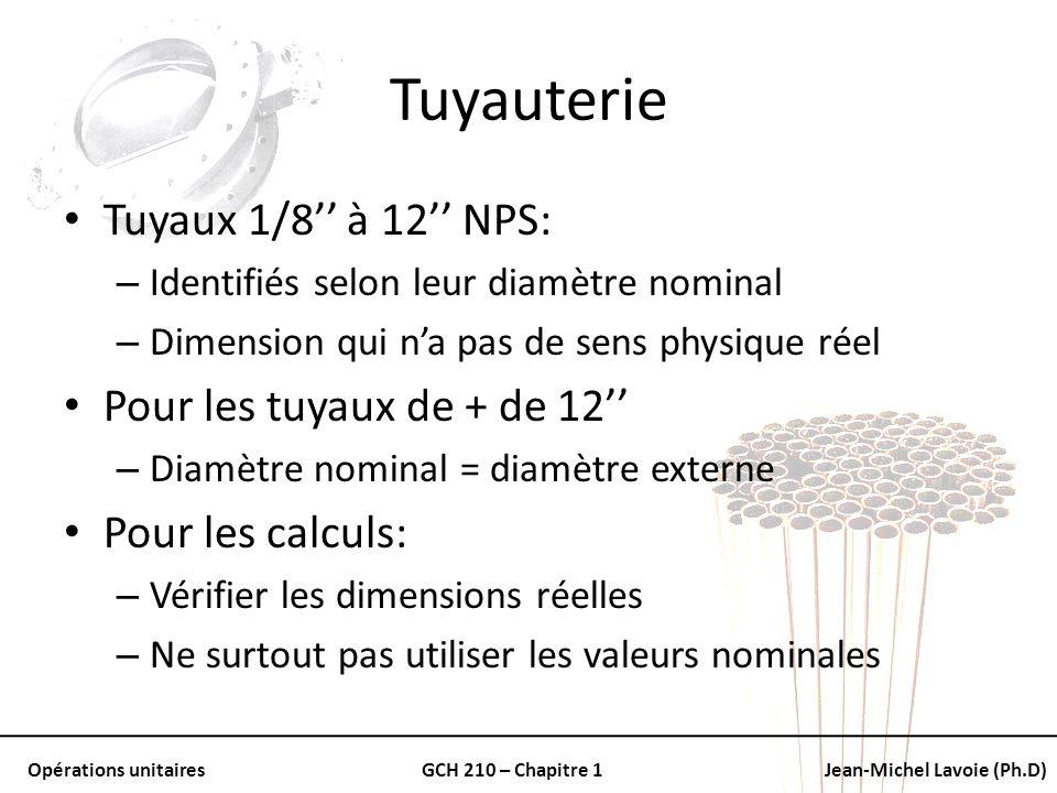 Tuyauterie Tuyaux 1/8'' à 12'' NPS: Pour les tuyaux de + de 12''