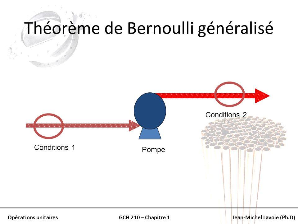 Théorème de Bernoulli généralisé