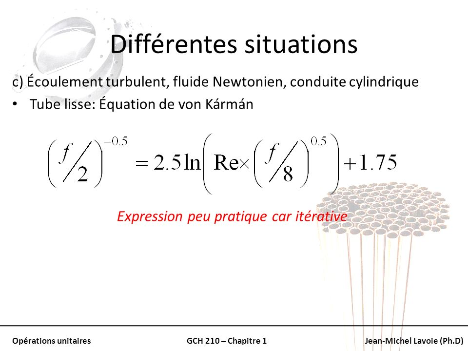 Différentes situations