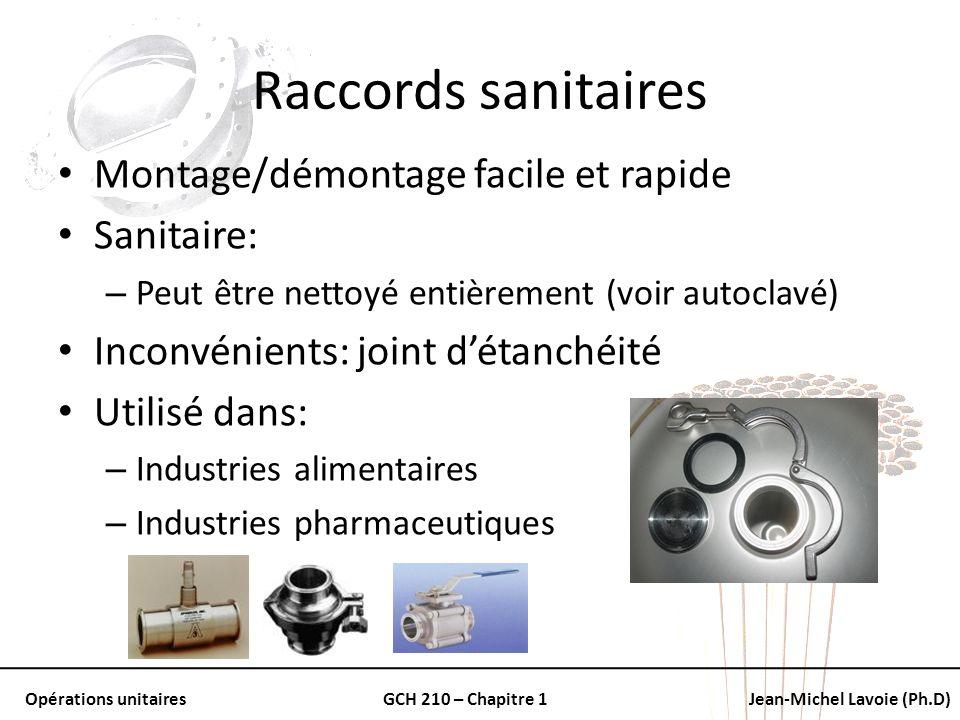Raccords sanitaires Montage/démontage facile et rapide Sanitaire: