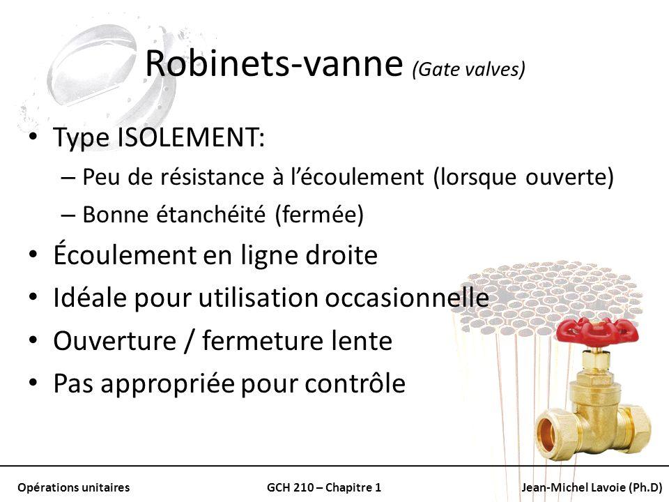 Robinets-vanne (Gate valves)