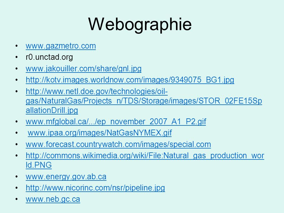 Webographie www.gazmetro.com r0.unctad.org