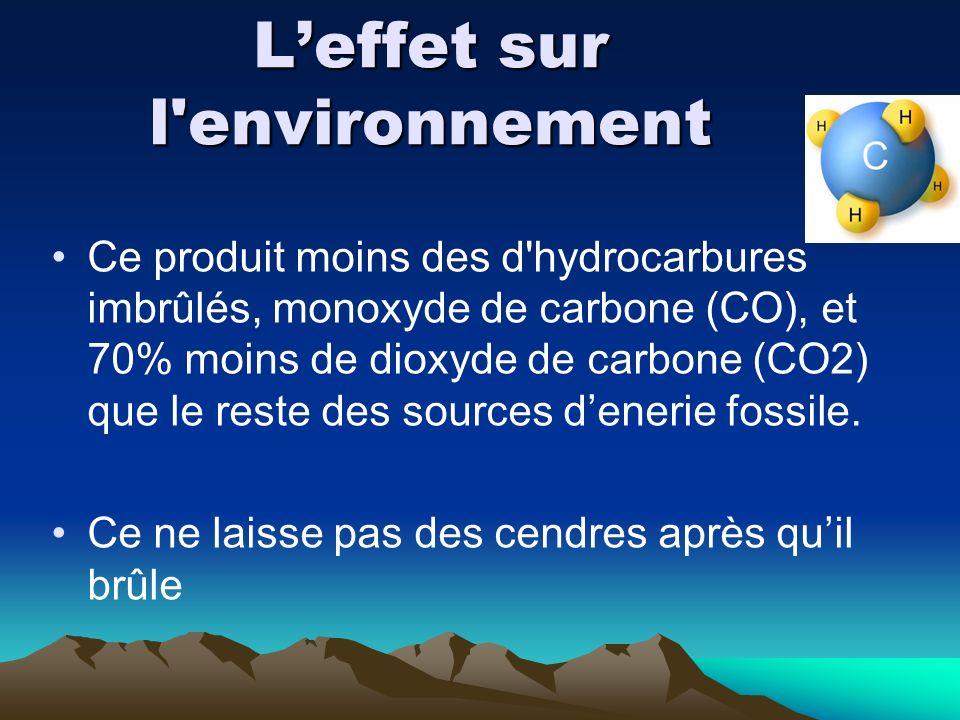L'effet sur l environnement