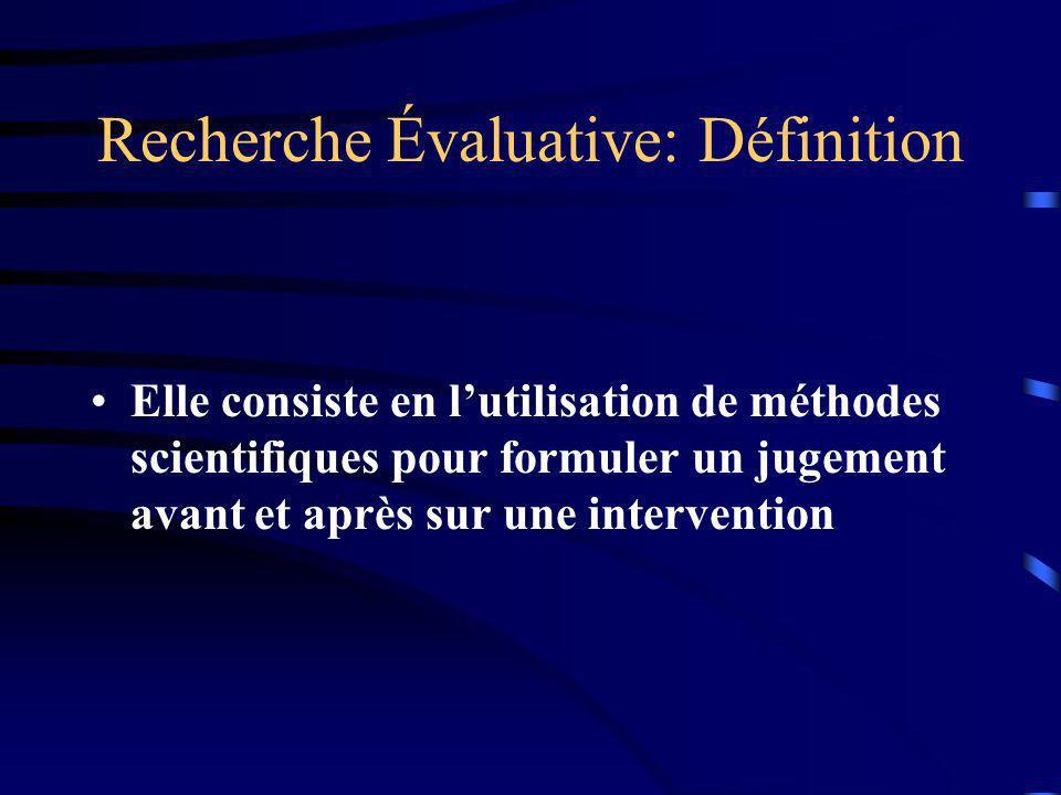 Recherche Évaluative: Définition