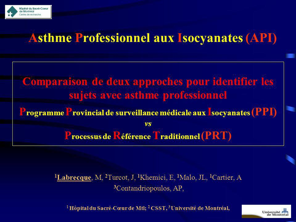 Asthme Professionnel aux Isocyanates (API)