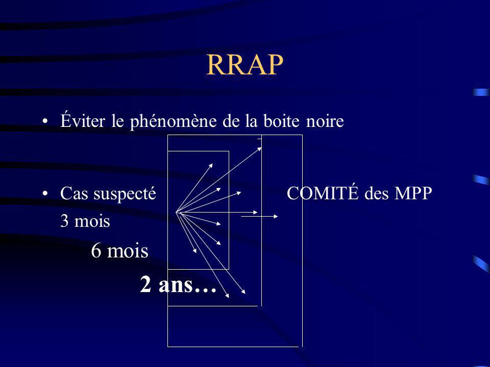 RRAP 2 ans… Éviter le phénomène de la boite noire