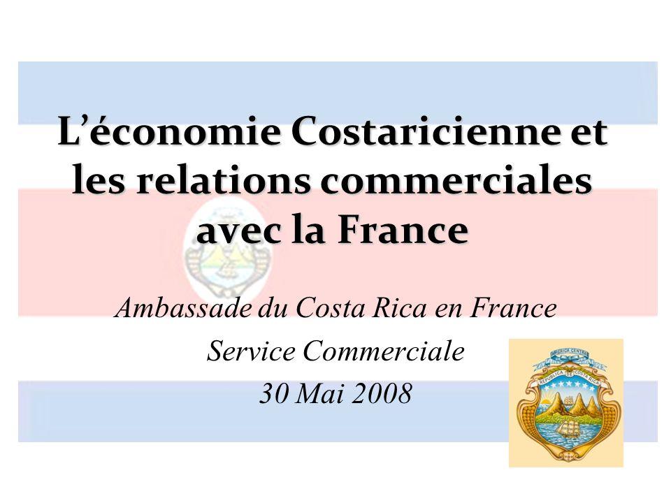 L'économie Costaricienne et les relations commerciales avec la France