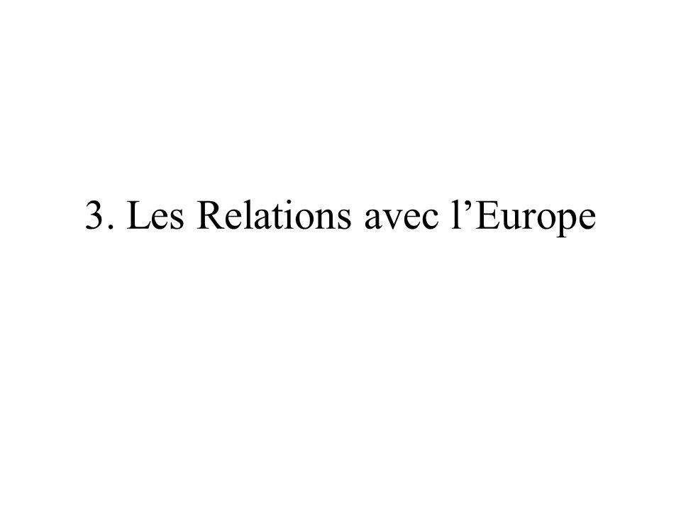 3. Les Relations avec l'Europe