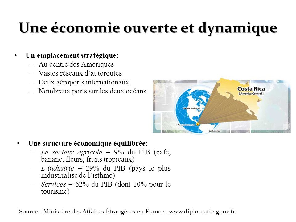 Une économie ouverte et dynamique