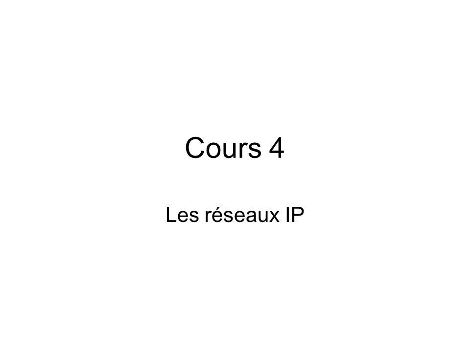 Cours 4 Les réseaux IP