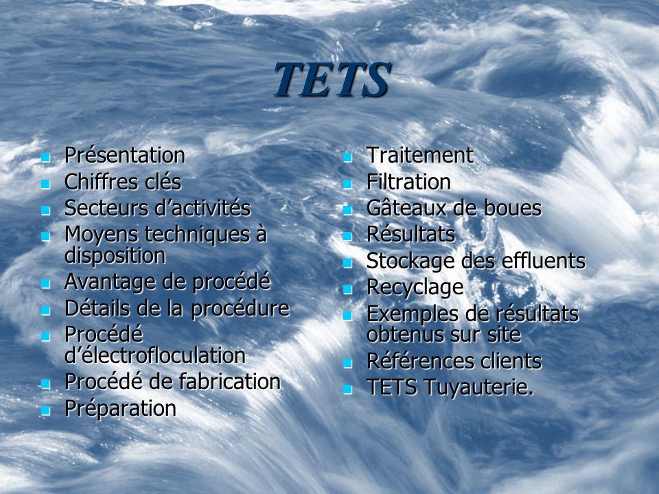 TETS Présentation Chiffres clés Secteurs d'activités