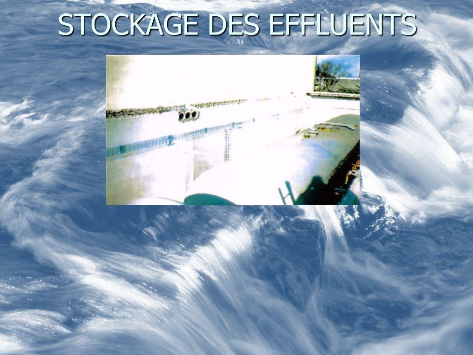 STOCKAGE DES EFFLUENTS