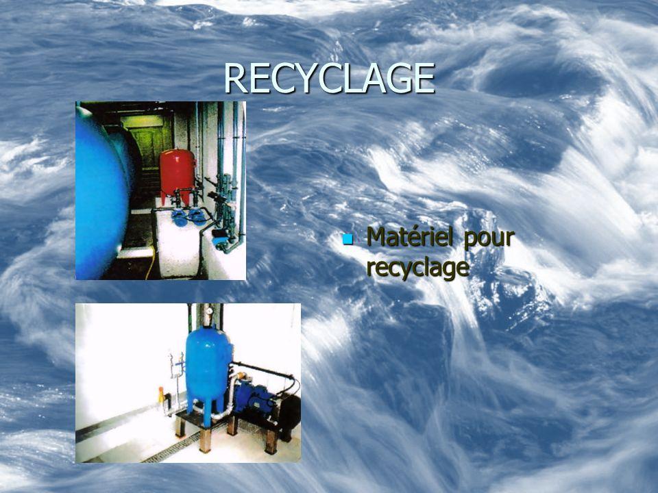 RECYCLAGE Matériel pour recyclage