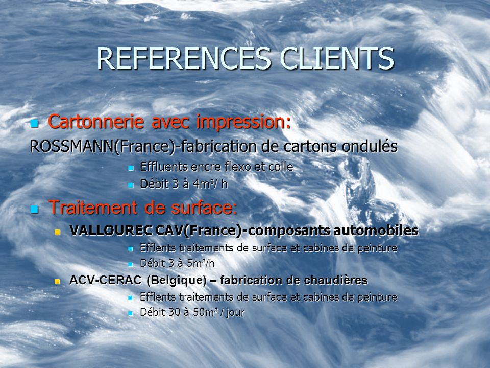 REFERENCES CLIENTS Cartonnerie avec impression: Traitement de surface: